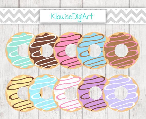 32 best digital clipart images on pinterest business cards carte iced donuts doughnuts food digital clipart by klouisedigiart colourmoves