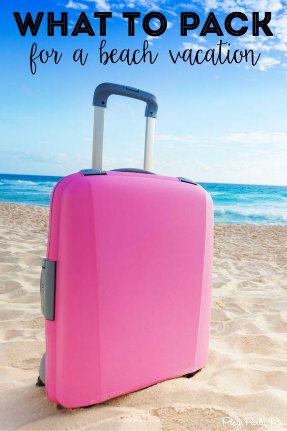 Las 25 mejores ideas sobre Beach Vacation Packing List en Pinterest - packing list sample