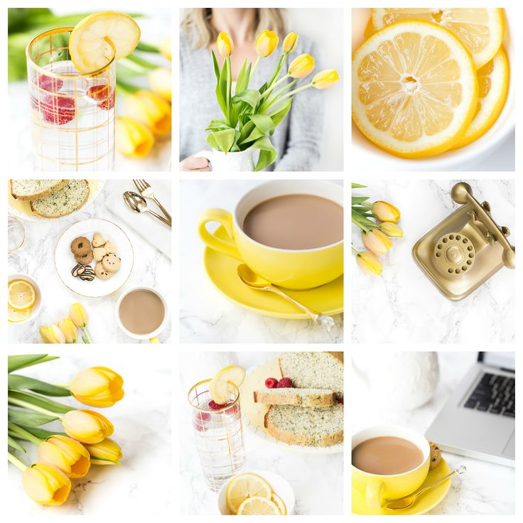 yellow tulips on marble background styled stock photos from haute chocolate