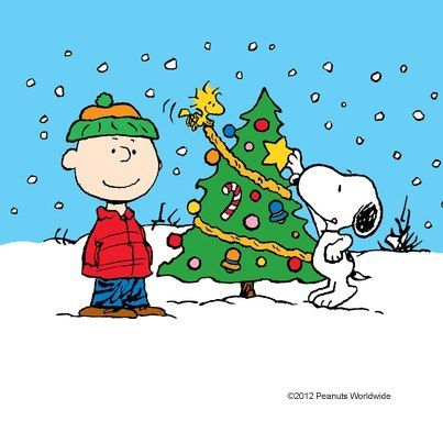 Peanuts Christmas, Charlie Brown, Snoopy, and Woodstock.