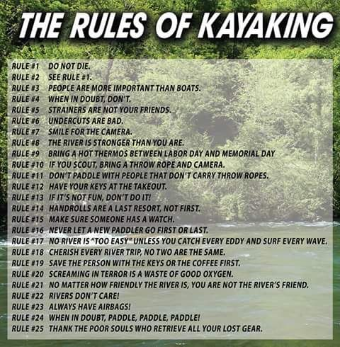Looks like I need a throw rope! Ok, not directly kayak fishing related but some of the rules definitely apply.  Do not die for example