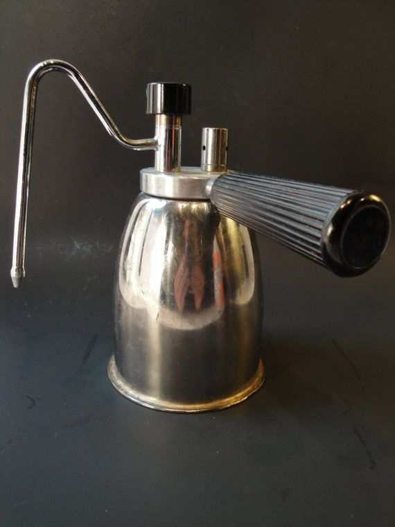 K Cup Coffee Maker With Milk Steamer : Fantastic Italian stovetop milk steamer vintage coffee kitchen cooking accessory from Italy for ...