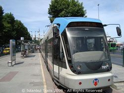 ISTANBUL TRAM: Picture of the tram in Kabataş, Istanbul.