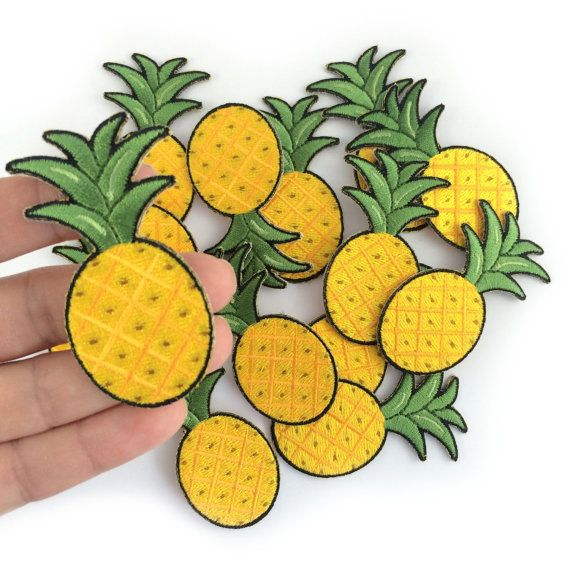Pineapple Patch, Yellow, Fruit, Embroidered Patches, Iron On, Applique, Wildflower + Co. DIY