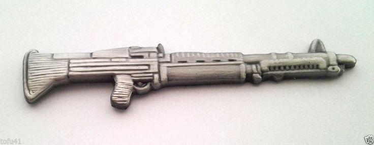 "M-60 MACHINE GUN  Military Veteran Hat Pin 16011 HO  (LARGE 2-3/8"")  HO LP"