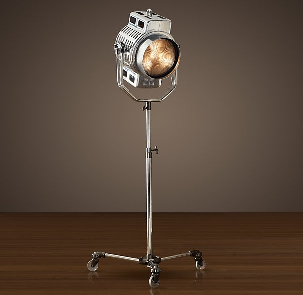 Want one of these for my office! Restoration Hardware's 1940s Hollywood Studio Floor Lamp - $1,695