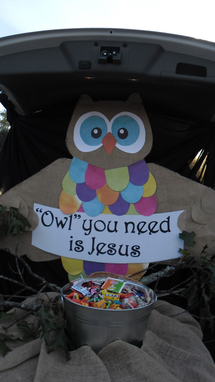 "FBC Tallulah, LA, Fall Carnival, Trunk or Treat, ""Owl"" you need is Jesus"