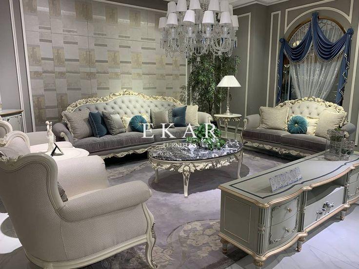 Luxury New Model 1 2 3 European Design Royal Leather Sofa ...