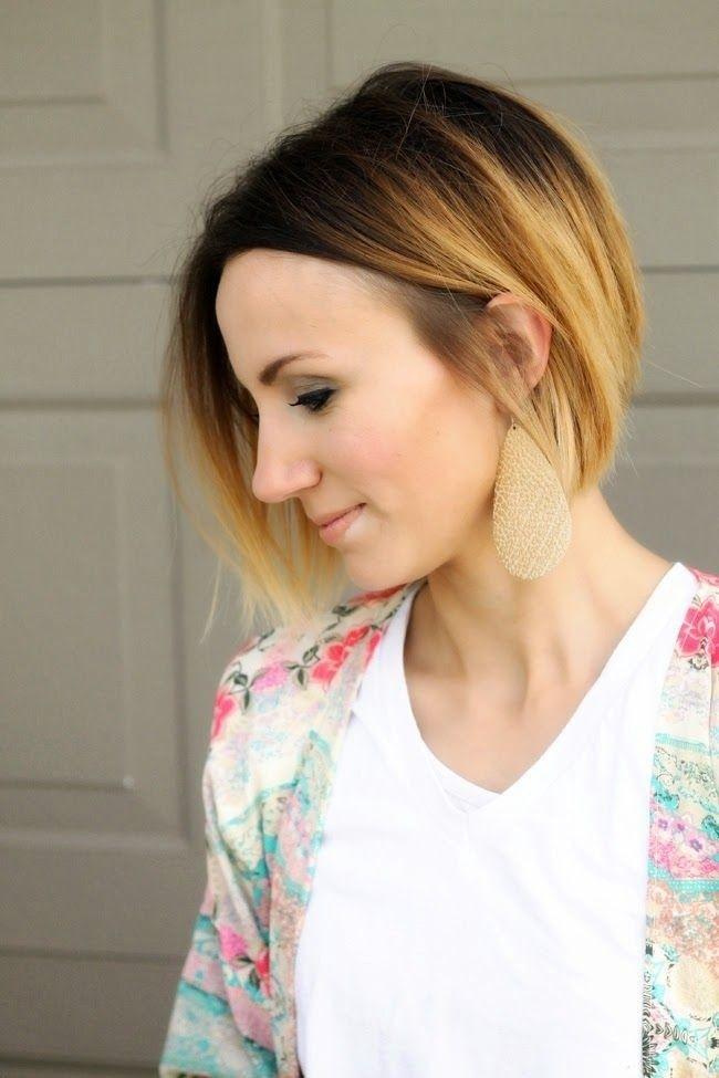 Ombre Bob Haircut - Amazing Ombre Hair Colour for Short Hair 2015