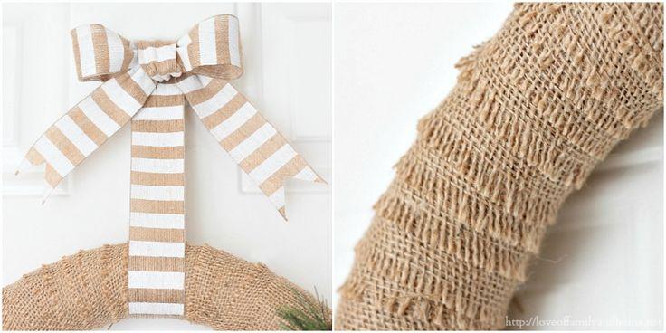 Quick & Easy Burlap Christmas Wreath {Tutorial}
