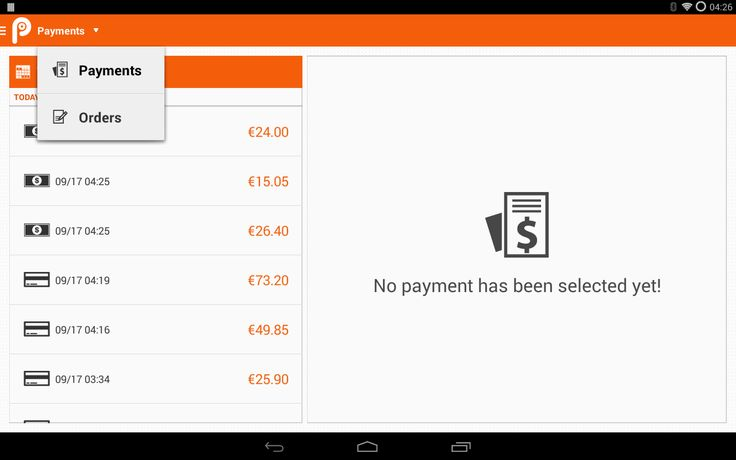 Historical point of sale in tablet 10''