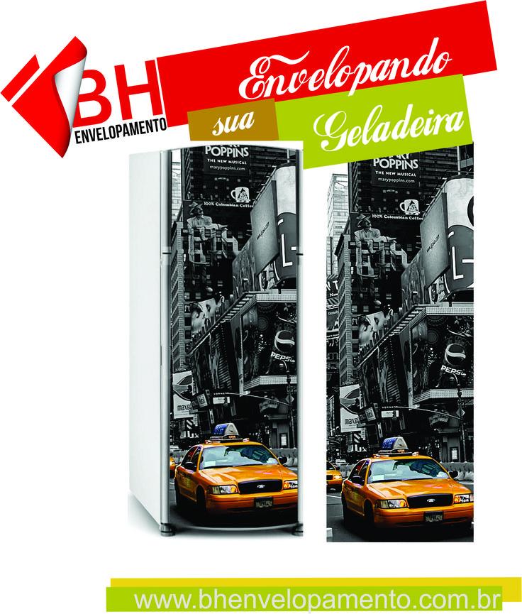 Adesivo de geladeira taxi Urbano. Decore a parede da sua casa com os monumentos de todas as cidades com o Adesivo de Parede Urbano - Cidade de Nova York