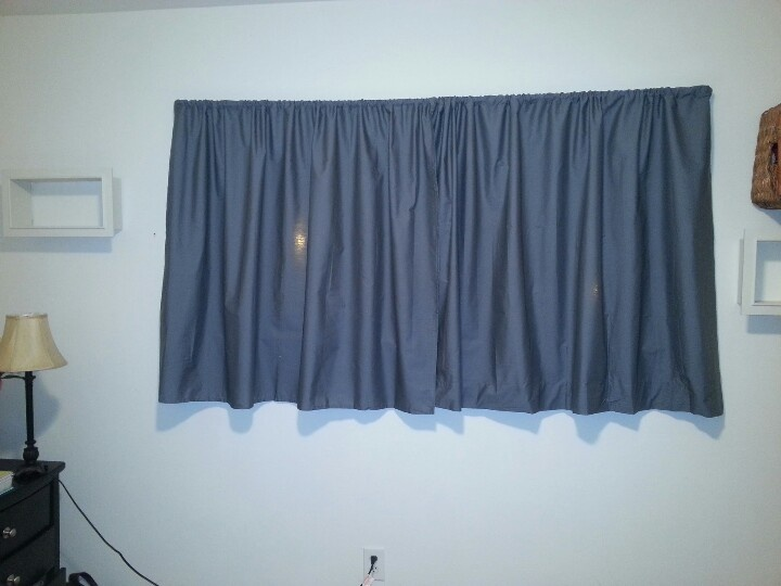 Diy Curtains Made Out Of 5 Twin Sheets From Walmart And Hem Tape No Sewing Needed It Was Easy