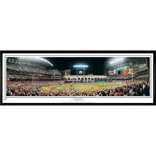 Houston Astros First Texas World Series 13.5 x39 Standard Black Frame