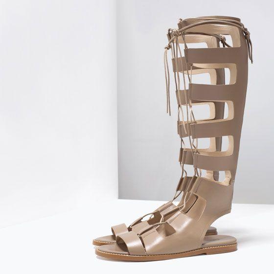Zara Leather Roman Sandals $159