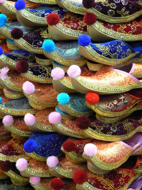 I went to a bazar in Istanbul and saw these really cute shoes.