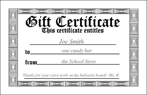 Free Printable Blank Gift Certificate | Blank printable tooth fairy certificate - BCWebdesign Homepage