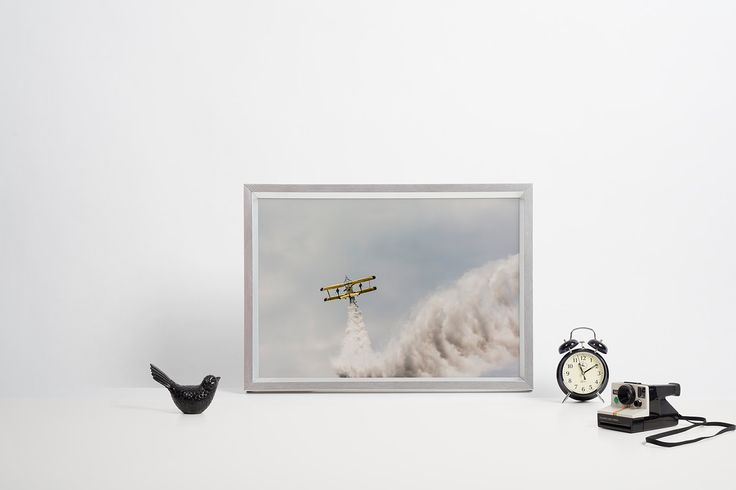 Yellow biplane perfect for wing walking high in the sky by ANOVVA on Etsy