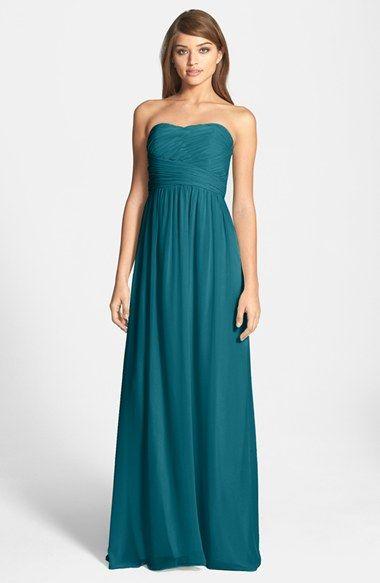 Jade colored bridesmaids dresses