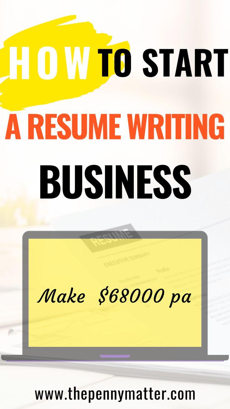 Start a resume writing service