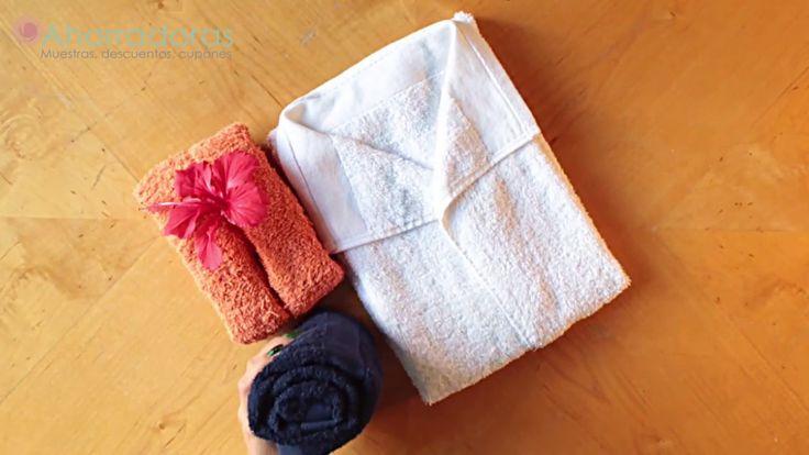 HOW TO FOLD TOWELS. COMO DOBLAR TOALLAS (3 formas o métodos ORIGINALES). https://www.youtube.com/watch?v=bGRzNkK8ap8 #ahorradoras #ahorro #ahorrar