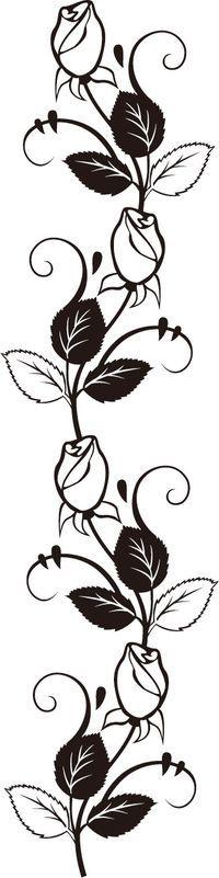 バラのイラスト・画像No.224『バラの装飾素材・ライン用』/無料のフリー素材集【百花繚乱】