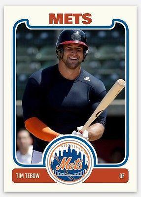 2016 New York Mets Tim Tebow Rookies Baseball Card