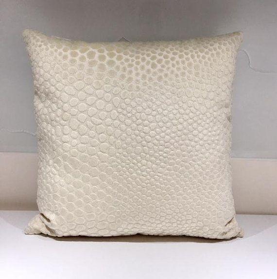 Cream Velvet Pillow Cover Designer Throw Cushion