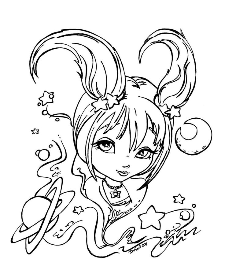Zodiac capricorn by on for Capricorn coloring pages