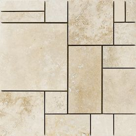 Marble Systems 5 Pack 12 In X 12 In Beige Travertine