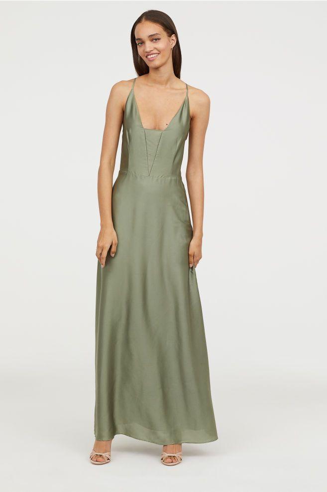 f4324239051 Maxi Dress - Dusky green - Ladies