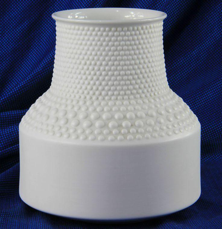 TAPIO WIRKKALA für ROSENTHAL Porzellan Vase Punktrelief SELTEN! 1968 Design