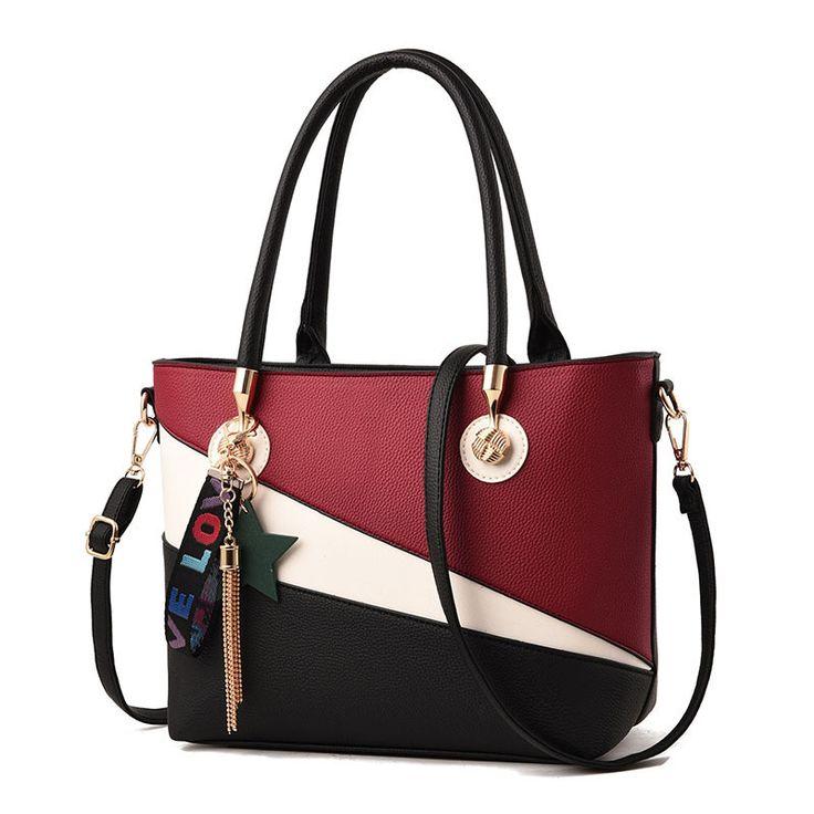 2018 wholesale tote bag, latest design ladies handbag, woman handbag pu leather