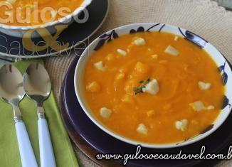 Sopa Creme de Abóbora e Palmito