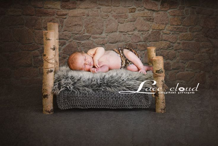 Digital Backdrop Newborn background gray props baby boy or girl Birch bed  Download Photography prop / pic #40 by LaceCloudStudio on Etsy