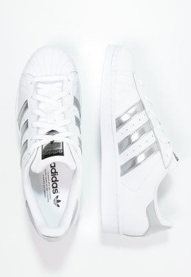adidas Originals SUPERSTAR - Sneaker low - white/silver metallic/core black - Zalando.de
