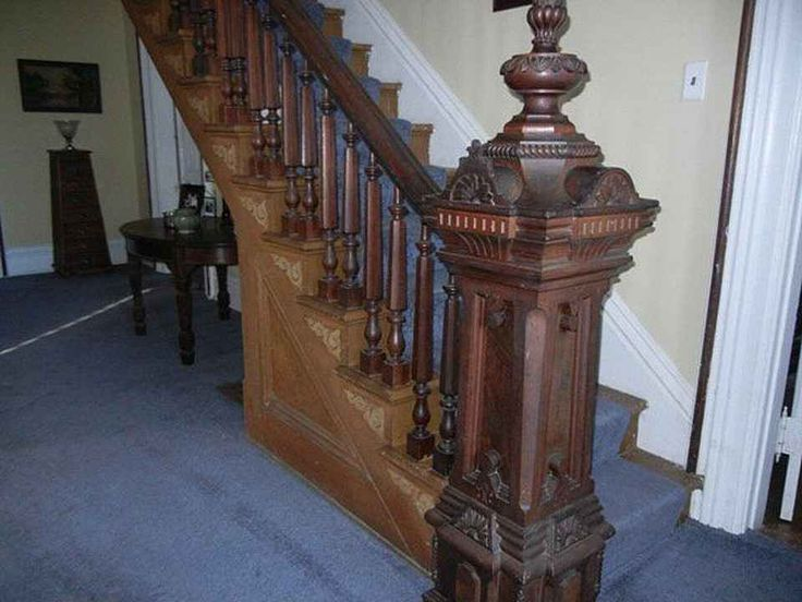 1884 Italianate Laurelville Oh Old Staircases Newel