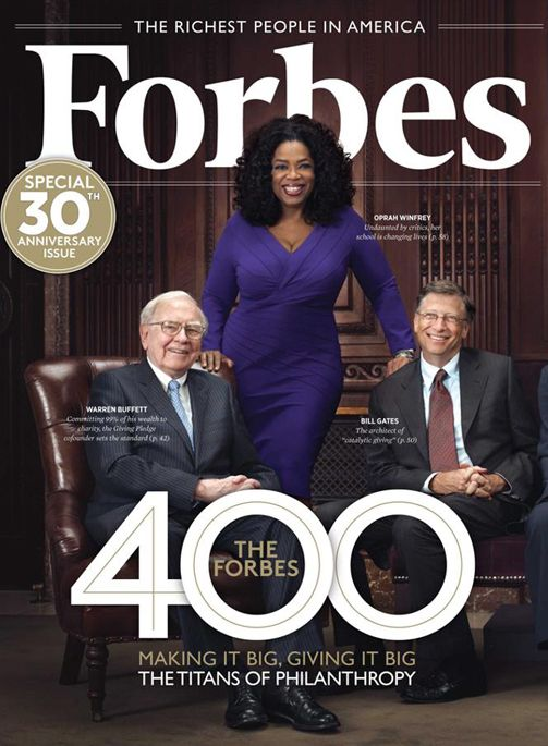 Warren Buffet, Oprah Winfrey, Bill Gates