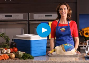 How to Thaw a Frozen Turkey...how long it takes for refrigerator method, emergency methods, calculator from Butterball.