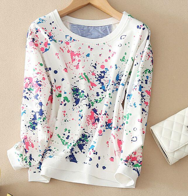 Women Print O Neck 4 Styles Full Sleeve Sweatshirt Hoodies Pullovers Sudaderas…
