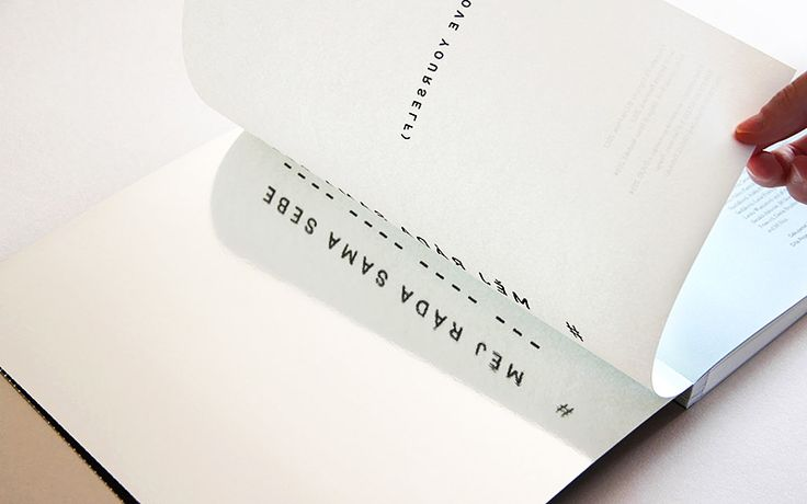 Typography Milan Nedved - Love yourself / 23 Eur, Barbora Baronova, photographer Dita Pepe, publishing Wo-men