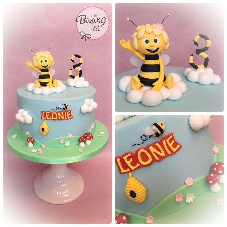 Maya the bee cake! Everything is handmade. Biene Maja Torte! Alles handgemacht.