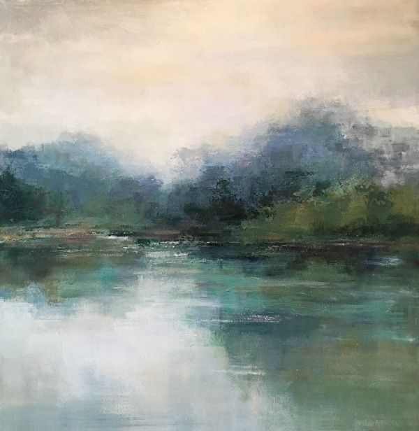 Modern Contemporary Low Country Marsh Abstract Landscape Water Reflections By Christin Abstract Art Landscape Landscape Paintings Acrylic Abstract Art Painting