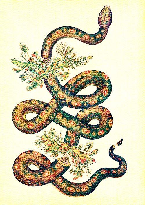 Snake  - Japanese tattoo  Source: http://draca-rys.tumblr.com/post/30512489056