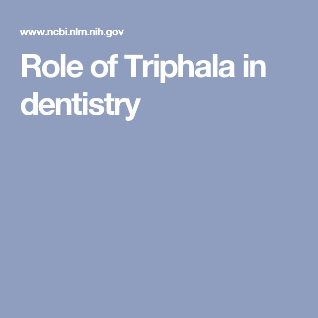 Role of Triphala in dentistry