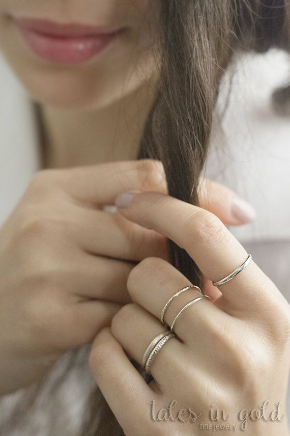 Gold Ring Band Ring 14 karat gold Ring Minimal by TalesInGold