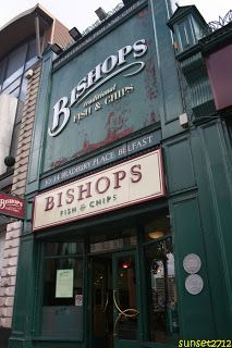 Bishops Traditional Fish 'n' Chips, Belfast, Northern Ireland. Yum!