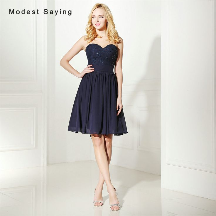 Find More Cocktail Dresses Information about Wholesale Sexy Navy Blue A Line Sweetheart Beaded Lace Cocktail Dresses 2017 Girls Short Party Prom Gowns vestidos de coctel,High Quality vestidos de coctel,China lace cocktail dress Suppliers, Cheap cocktail dresses from modest saying Lacebridal Store on Aliexpress.com