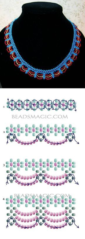Free pattern for necklace Egypt 11/0