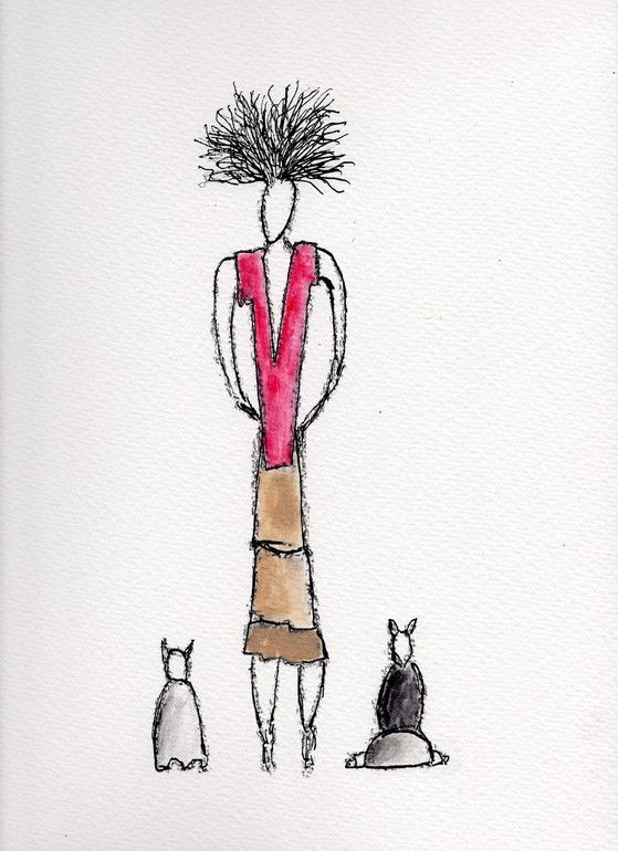 Human series - 015 - Woman and cats